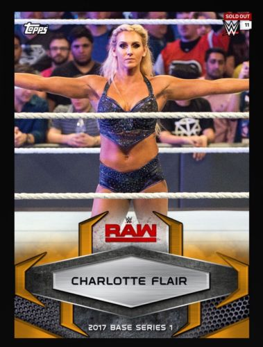 CHARLOTTE FLAIR RAW Orange Parallel SOLD OUT Topps WWE Slam Digital Card