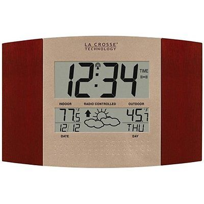 Wall Clocks La Crosse Technology WS-8157U-CH-IT Atomic Clock with Outdoor and