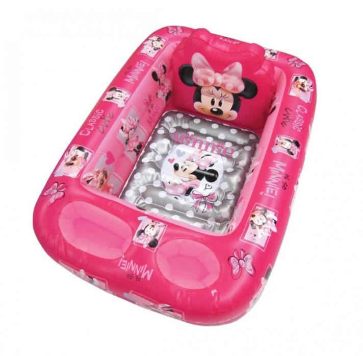 Disney Minnie Mouse Inflatable Safety Bathtub Non Slip Water Temperature Pink