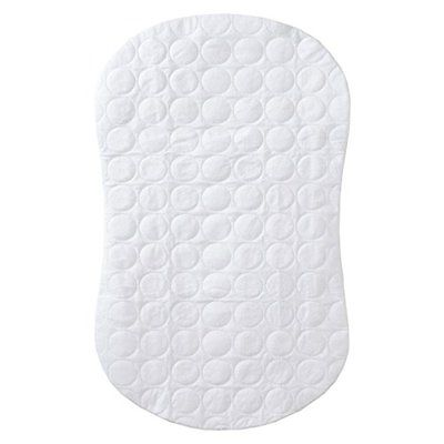 Waterproof Fitted Mattress Pads Protectors Quilted Crib Halo Bassinest Swivel