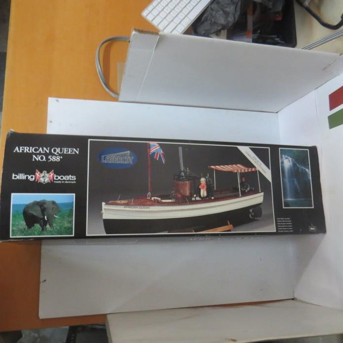 Billing Boats USA, Inc. 588 1:12 The African Queen Steamboat (Plastic Hull)