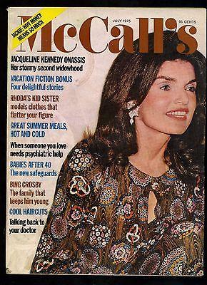 JACQUELINE KENNEDY ONASSIS McCall's magazine VINTAGE 1975 Stormy Widowhood