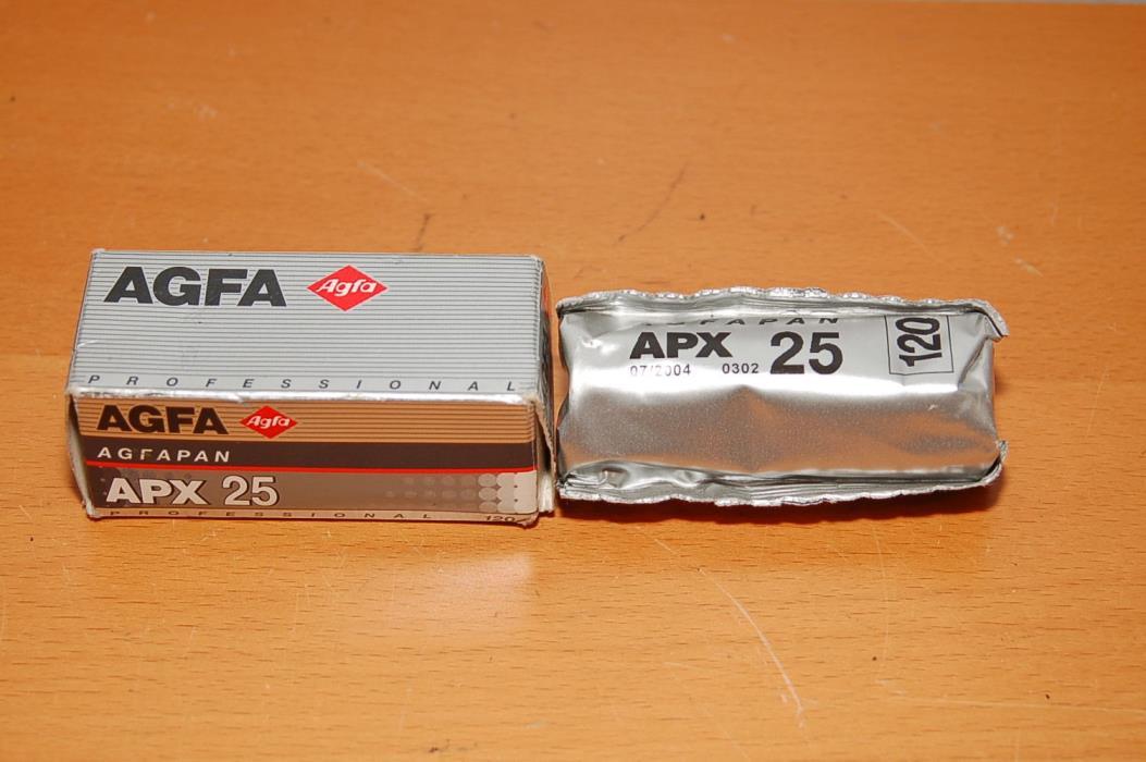 AGFA Agfapan Professional 120 Black & White film, ISO 25, APX 25 -- EXPIRED 2004