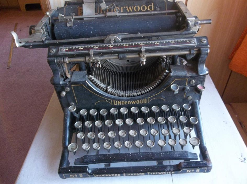 Early 1900's Vintage Underwood No 5 Typewriter