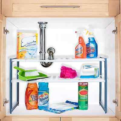 Kitchen Under Sink Rack Adjustable Shelf Organizer Bathroom rack stand Cabinet