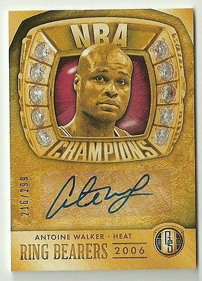 2013-14 Gold Standard ANTOINE WALKER Ring Bearers AUTOGRAPH Miami Heat AUTO 299