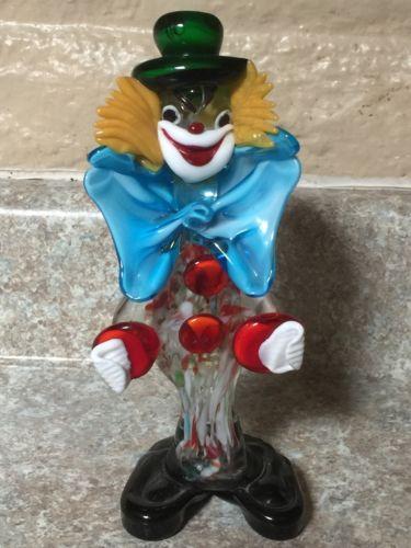 Glass Blown Clown : 8 1/2