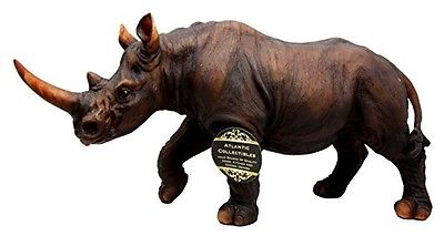 African Safari Grasslands Rhinoceros Beast Decorative Figurine 11
