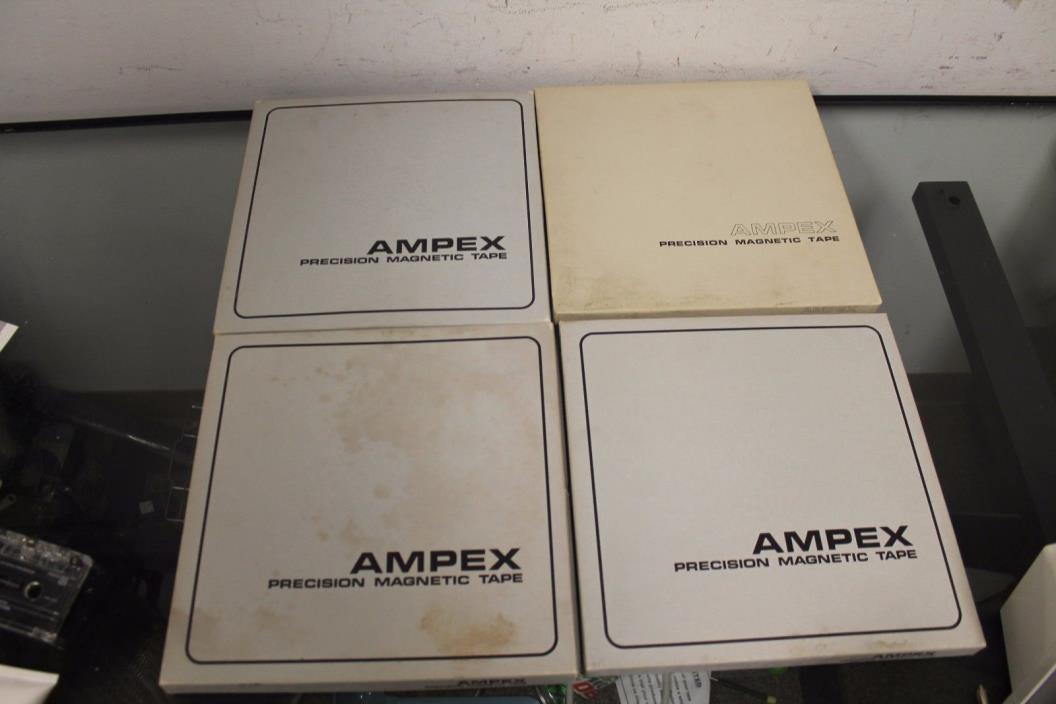 Lot of 4 AMPEX Professional Audio Tape 631 Metal Reel 10.5