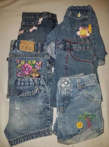 Girls size 6 jeans shorts/skirts