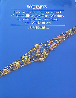 SOTHEBY'S Melbourne Fine Australian Jewellery auction catalog