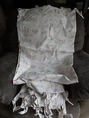 Covington ~~~Over the Moon~~~ Toile Fabric Baby Nursery Rhyme Off White Drapes
