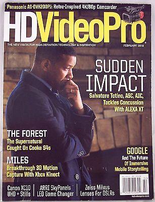 HD Video Pro Magazine February 2016 Salvatore Totino Panasonic AG-DVX2000PJ NEW