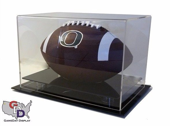 Acrylic Table Counter or Desk Top Full Size Football Display Case NFL NCAA UV