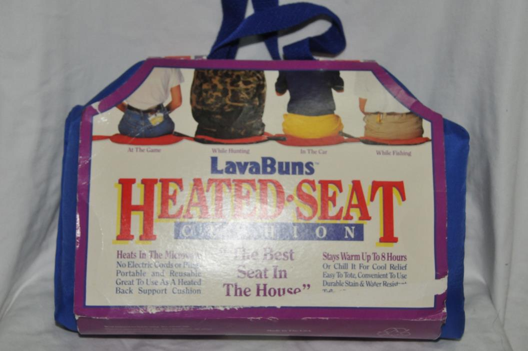 Lava Buns Seat Heater Heatable Warmer Cushion Sporting Events Hunting Fishing