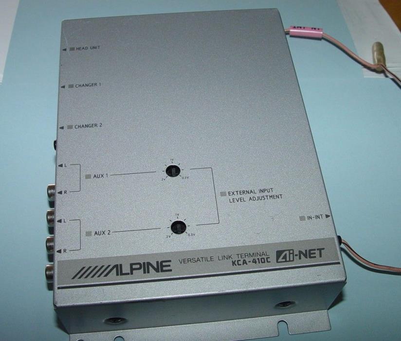 ALPINE ELECTRONICS KCA-410C Ai-NET VERSATILE LINK TERMINAL PRE-USED ORIGINAL