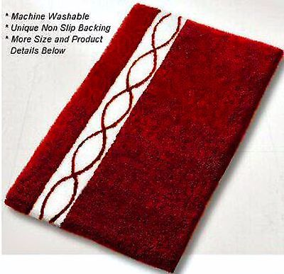 Classico Medium Bath Rug Garnet Red 21.7x25.6 in 55x65 cm