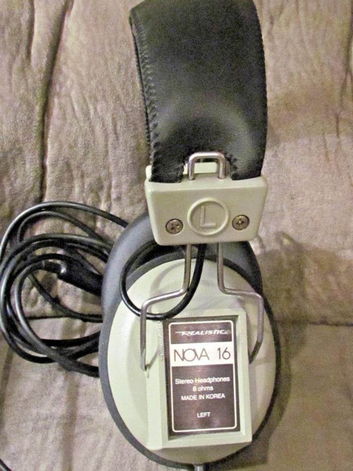 VINTAGE Realistic Nova 16 Stereo Headphones Dual Volume Control (59)