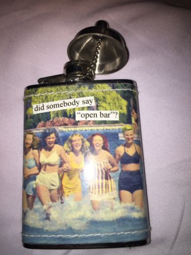 HIP FLASK For Women 6 oz. bachelorette open bar