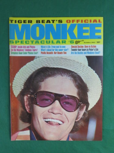 TIGER BEAT'S OFFICIAL MONKEE SPECTACULAR #6 Magazine October 1967