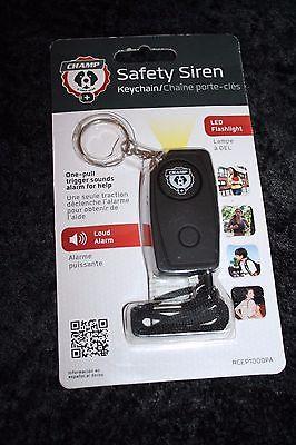 Champ Safety Siren Keychain w/ LED Flashlight One Pull Trigger Alarm RCEP1000PA