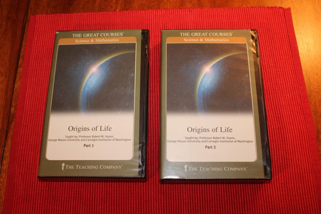 Great Courses Origins of Life CDs Robert Hazen