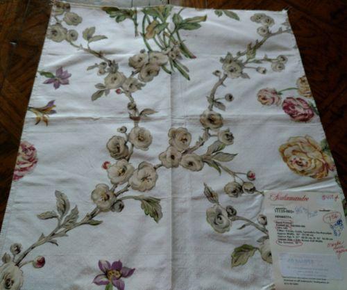 SCALAMANDRE Fabric Remnant - HENRIETTA - HAND PRINTED 100% SILK - 17