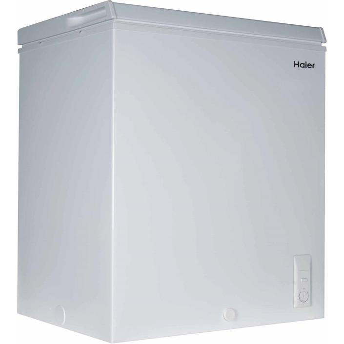 White Haier 5.0 cu ft Freezer Compact Refrigerator Storage Chest Unit NEW