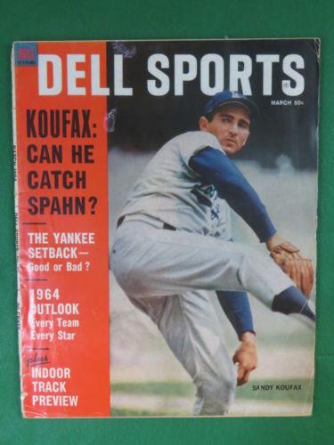 DELL SPORTS March 1964 Vol. 31, No. 7  SANDY KOUFAX COVER!