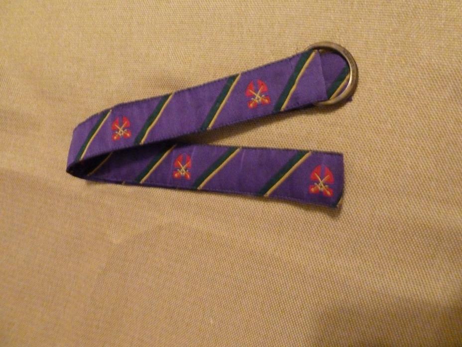 Ralph Lauren Kids belt coat of arms purple with stripe design 32