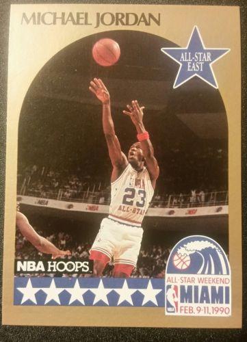 1990 NBA Hoops #5 All Star Game Michael Jordan !!!