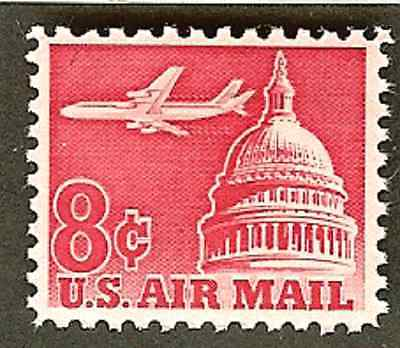 Scott# C64  8c AIRLINER & CAPITOL DOME - airmail  mnh