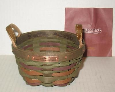Longaberger 2008 Hostess Appreciation American Craft Traditions Basket
