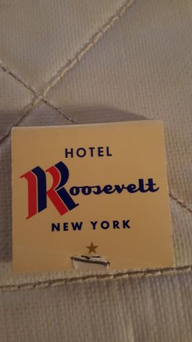 Vintage Matchbooks HOTEL ROOSEVELT NEW YORK New No Missing Matches
