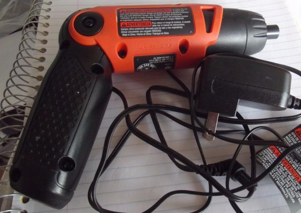 Black & Decker LI2000 3.6-Volt 3-Position Rechargeable Screwdriver  BARELY USED