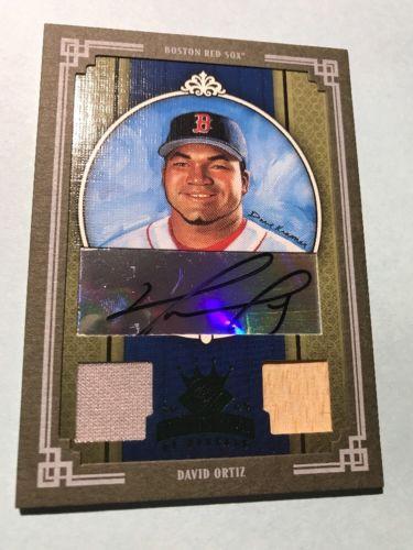 David Ortiz Autograph Game Used Bat & Jersey Relic Boston Red Sox 11/25 Ex