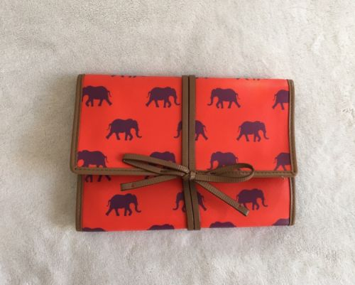 Stella And Dot Orange Purple Elephant Wallet Clutch Bring Your Bling NWOT