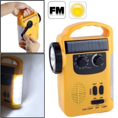 Solar Power Dynamo Hand Cranked Lantern Rescue Light / Multi-function