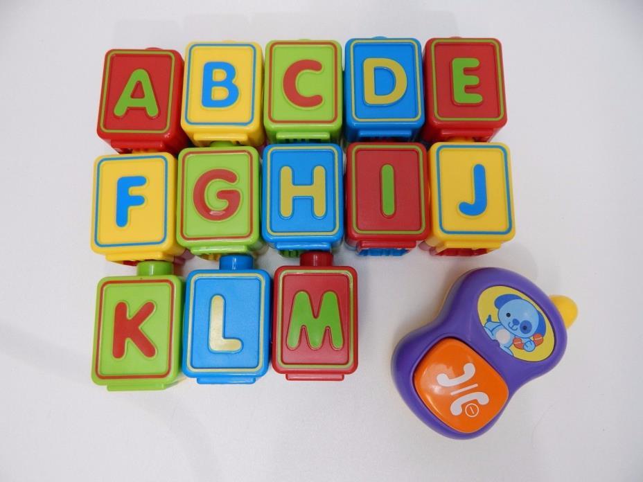 Vtech Alphabet Activity Cube 13 Replacement Phone & Alphabet Blocks Full Set