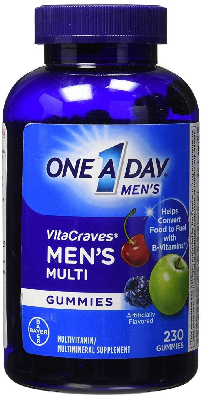 One A Day Men's VitaCraves Multivitamin Gummies 230 ct. by Bayer