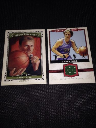 Larry Bird 2013 Goodwin Champions memorabilia Sport Royalty card + Base Card!