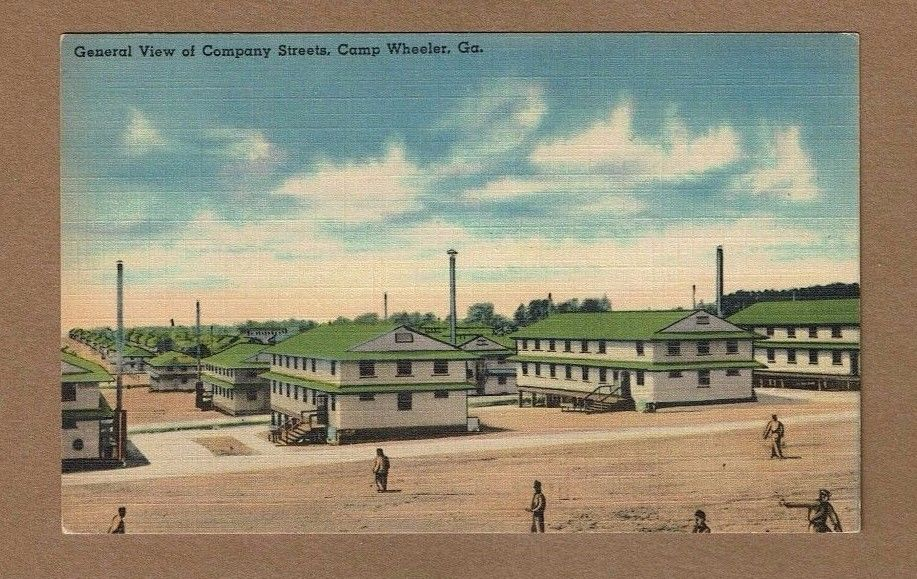 Camp Wheeler,GA Georgia, General View of Company Streets