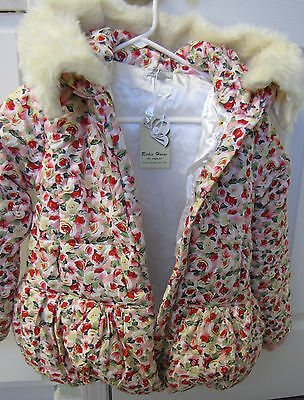Richie House Girls's Padding Jacket with Faux Fur Hood Size 9/10