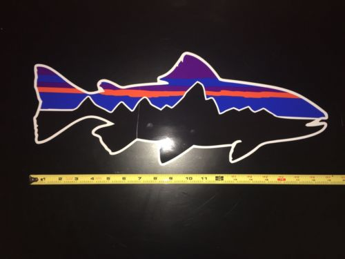 Patagonia Fitz Roy Trout Sticker 18 Inch (RARE!)