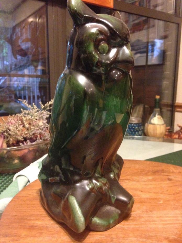 blue mountain pottery owl (green) 10