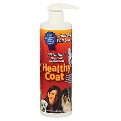 Healthy Coat Canine Supplement 1 Pint Reduce Shedding Glossy Coat Dog