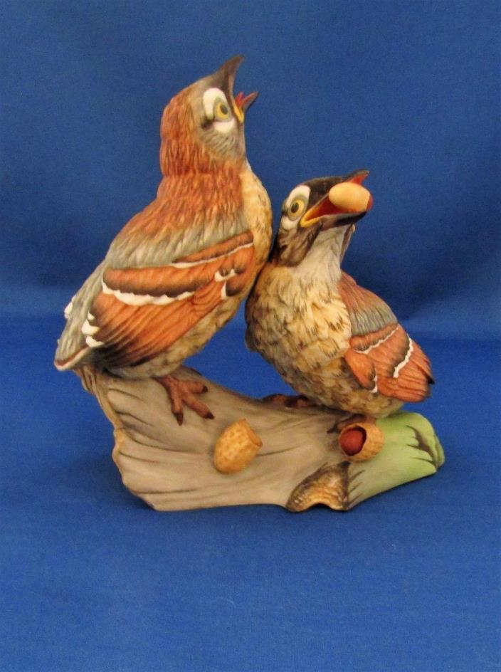 BOEHM Porcelain Birds FLEDGLING BROWN THRASHERS Figurine 400-72