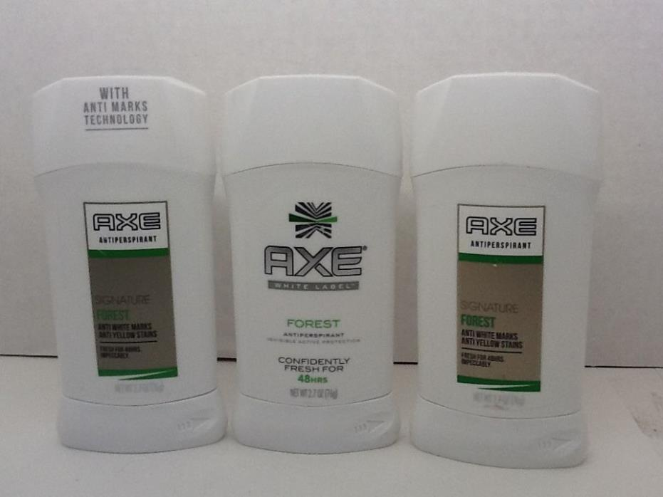 Axe Signature Forest 48 Hr Antiperspirant 2.7 oz (3 Pack) New Exp 8/2017-7/2018
