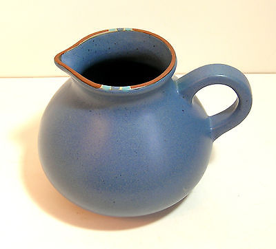 Dansk Blue Pottery Pitcher, Mesa Design