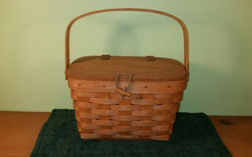 Longaberger 1994 Small Purse Basket Warm Brown
